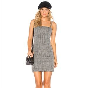 CECILE MINI DRESS IN GREY CHARLES CHECK